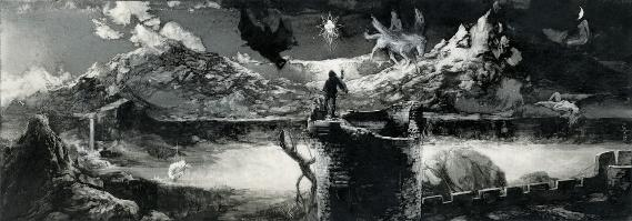 Manfred Conjuring the Spirits by Santiago caruso by permission